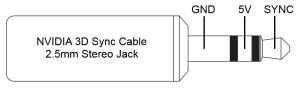 NVIDIA 3D Sync Jack Plug