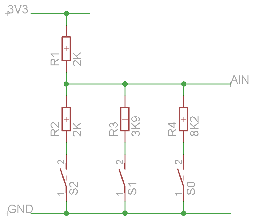 3 Switch Resistor Ladder