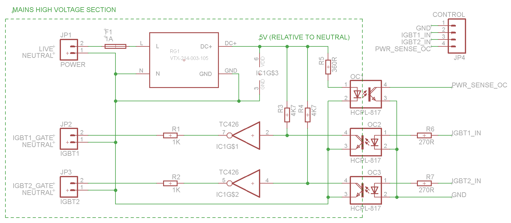 Pcb design for espiresso igbt driver board blog since i had one driver spare in the tc426 i decided to expose this by adding another opto isolator so there are two opto isolated igbt drivers available ccuart Image collections