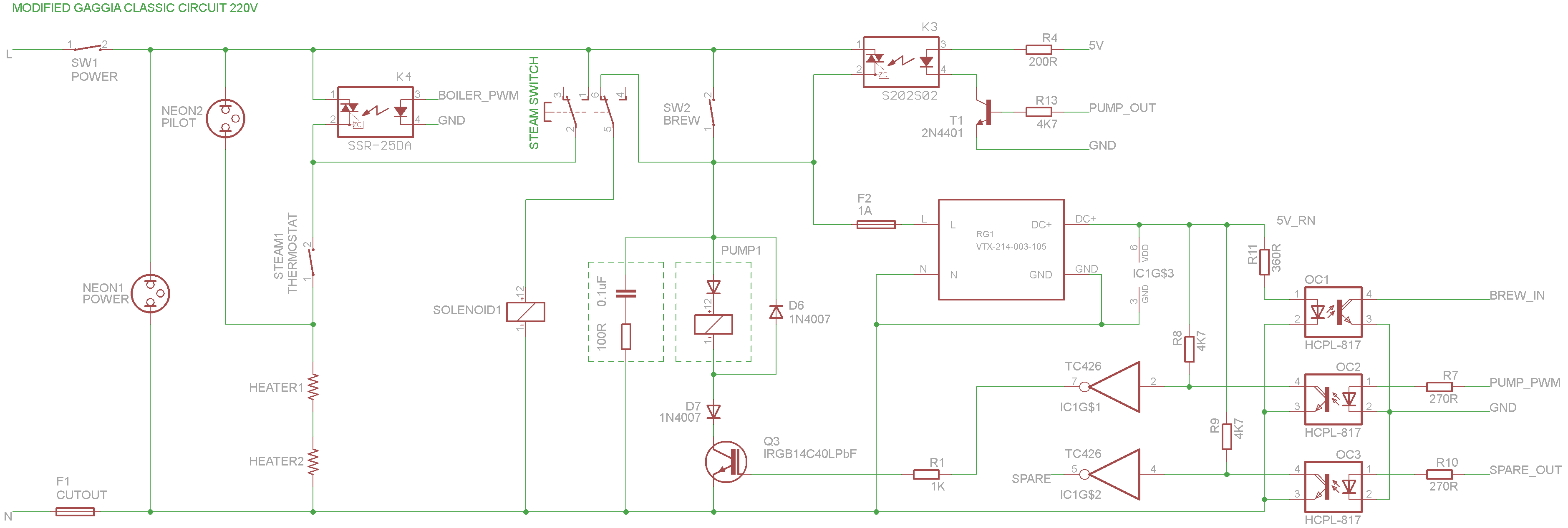 Updated High Voltage Output Stage For My Espiresso Machine Triac How To Design A Snubber Optotriac Electrical Engineering Gaggia V3 Draft1