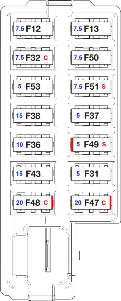 Fiat Punto 1 2 Fuse Box Diagram : Abarth fuse box k s dashcam wiring